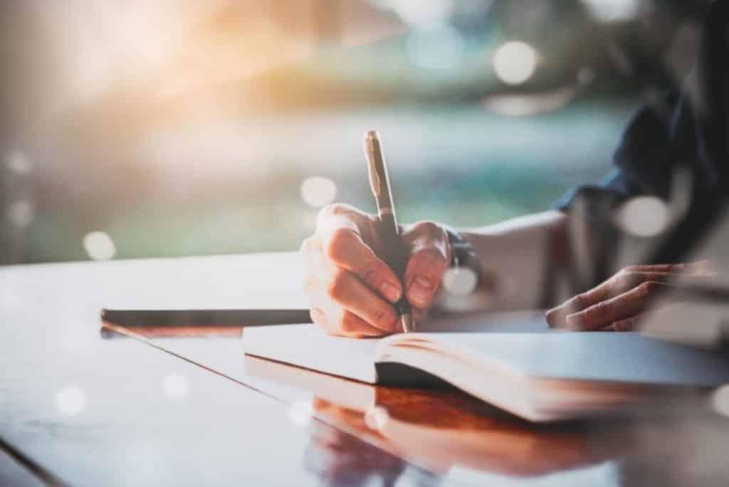 Wat geeft je energie? Oefening schrijven, schrijven, schrijven.